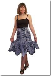 Нарядная летняя юбка с фигурным воланом.