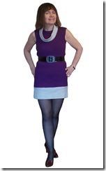 Заочные курсы кройки и шитья. Короткое платье без рукавов из трикотажного полотна
