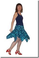 Нарядная юбка с остроконечным воланом для латиноамериканских танцев