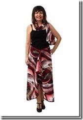 Заочные курсы кройки и шитья. Нарядная летняя юбка с одним швом и декоративный шарф