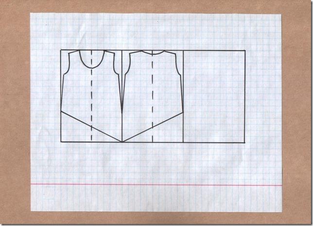 Как научиться шить блузку с асимметричным низом без выкройки. Чертеж.