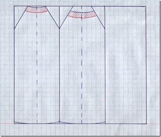 Как научиться шить прямое платье с американской проймой без выкройки. Чертеж.