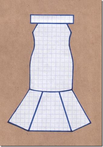 """Как научиться шить вечернее платье силуэта """"русалка"""" без выкройки. Чертеж."""