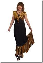 Заочные курсы кройки и шитья. Нарядная длинная юбка с воланом.