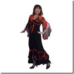 Как научиться шить длинную юбку с воланами и разрезом спереди.