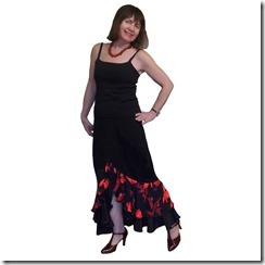 Как научиться шить нарядную длинную юбку с воланами и разрезом спереди.