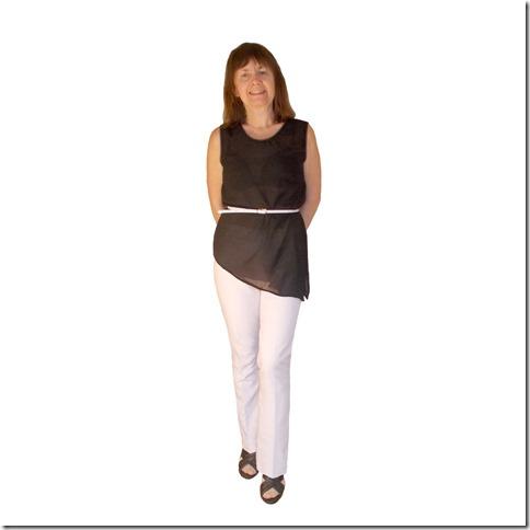 Как научиться шить блузку с асимметричным низом без выкройки.