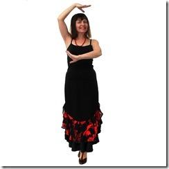 Как научиться шить юбку с воланами и двумя разрезами по бокам.