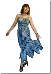 Как научиться шить нарядное летнее платье с фигурным воланом.