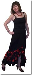 Как научиться шить нарядную длинную юбку с воланами и разрезом спереди